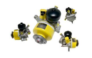 ABC Pumpe Servopumpe (Neuteil mit Pulsationsdämpfer) A0044665701 A0054667001 Mercedes S Klasse W221 Coupe C216 R230 SL 55 AMG Kompressor